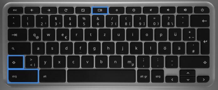Teilbereich Screenshot auf dem Chromebook erstellen
