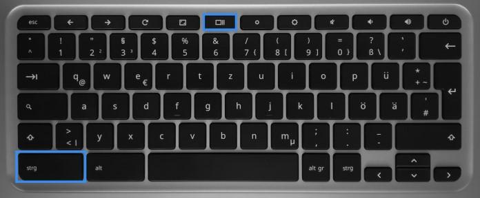 Screenshot auf dem Chromebook erstellen