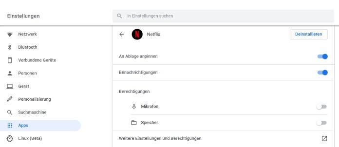 Benachrichtigungen von Apps in Chrome OS anpassen
