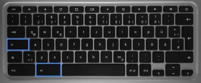 Caps Lock bei Chromebooks nutzen