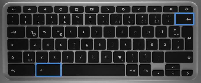 Entfernen-Taste bei Chromebooks