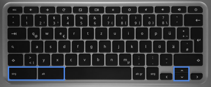 Home- und Ende-Taste bei Chromebooks