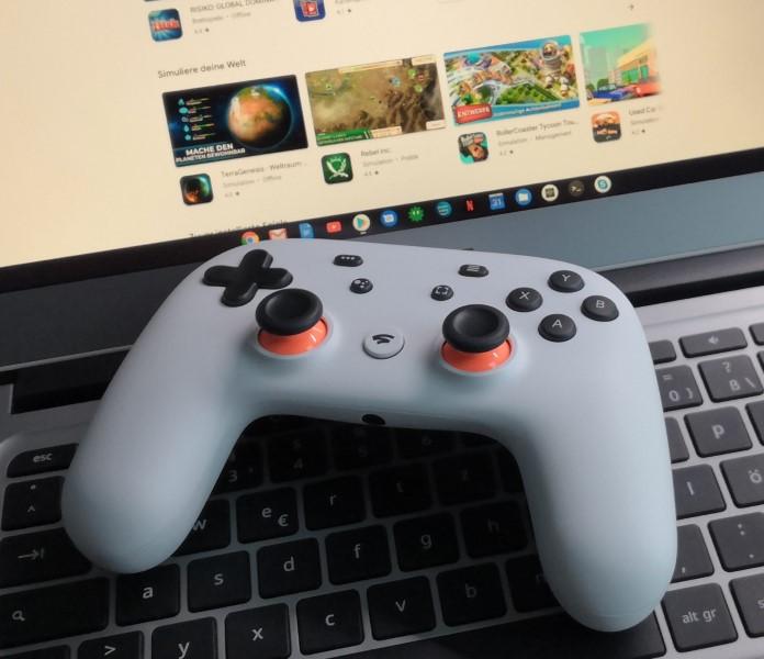Gaming auf Chromebooks mit Stadia und Google Play Store