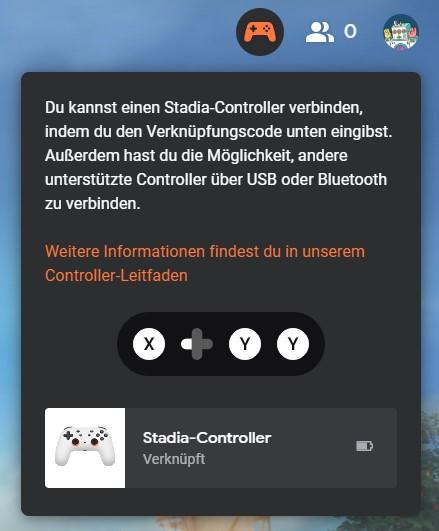 Stadia-Controller verbinden