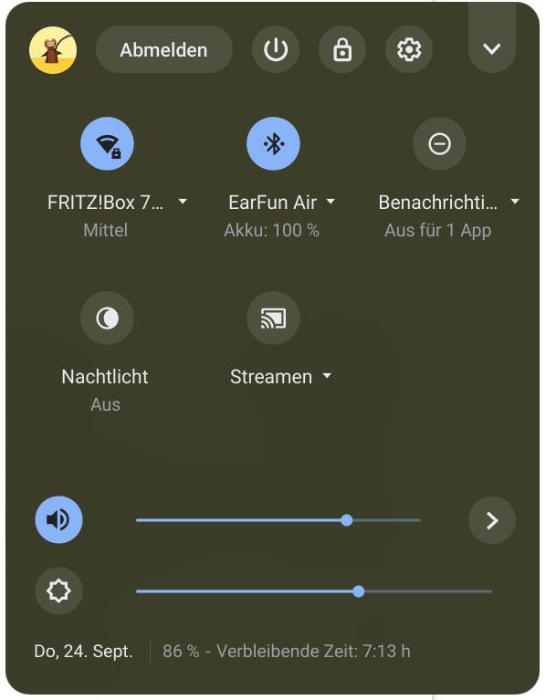 Akkustatus von Bluetooth-Geräten direkt in Chrome OS anzeigen