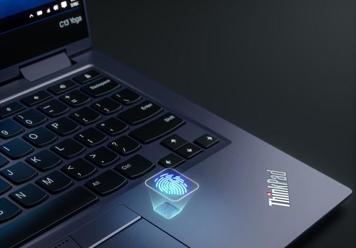 Lenovo ThinkPad C13 Yoga Chromebook Fingerabdrucksensor
